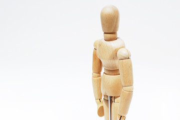 Wooden mannequin human scale model