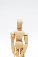 Wooden mannequin human scale model 2