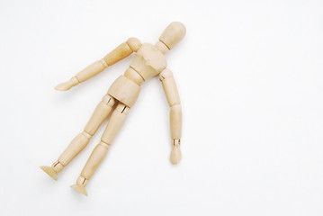 Wooden mannequin human scale model 16