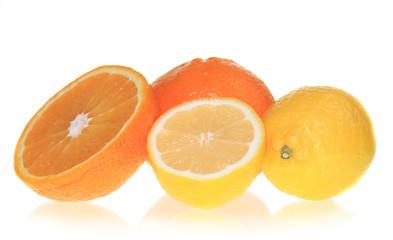 Fresh fruits, perfectly isolated