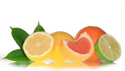 Fresh fruit perfectly isolated
