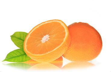 Fresh grapefruit isolated on white