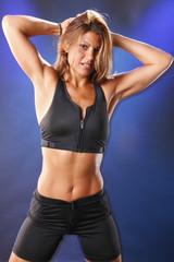 Cute blond in workout gear