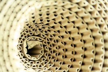 Corrugated paper rolls.