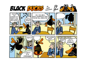 Black Ducks Comic Strip episode 55