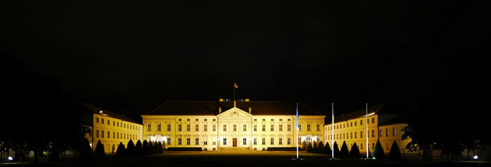 Berlin - Bellevue by Night - Seat of the German President