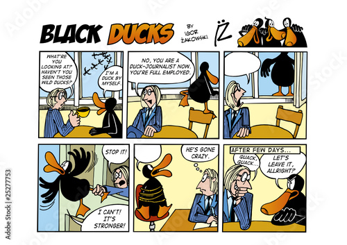 Keuken foto achterwand Comics Black Ducks Comic Strip episode 55