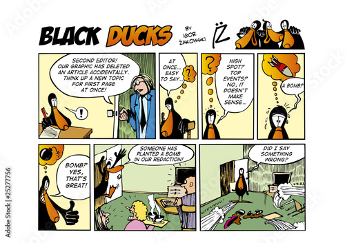 In de dag Comics Black Ducks Comic Strip episode 53