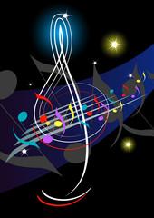 Treble clef-Night music