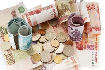 russian moneys, rouble, bank-paper, soft money