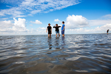 Wattwandern an der Nordsee 696