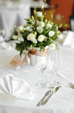 Table set for an event party or wedding poster