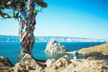 Mountain Burhan lake Baikal