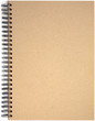 Front page of spiral bound note pad binder