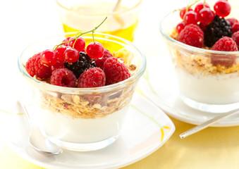 yogurt ,muesli ,berries and honey