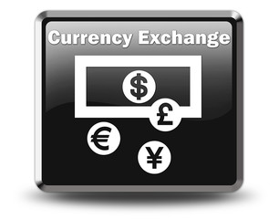 "Glossy Black Button ""Currency Exchange"""