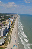 Aerial View of Myrtle Beach Coastline