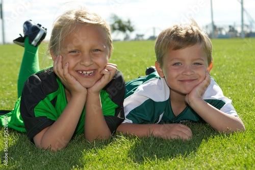 Sibling Soccer Portraits