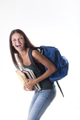 Laughing female student