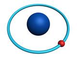 hydrogen atom on white background poster