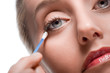 Removing make-up with cotton bud