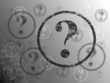 Question Mark Background BW