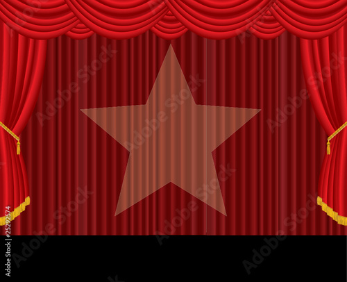 red stage star