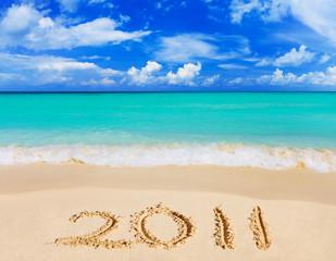 Numbers 2011 on beach