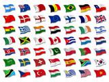Fototapety Mix Nationalflaggen