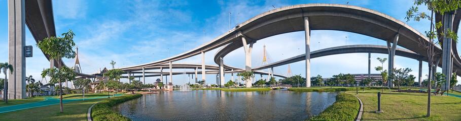 Panorama of Bhumibol Bridge