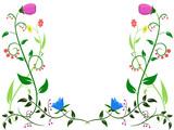 Flower leaf ornament