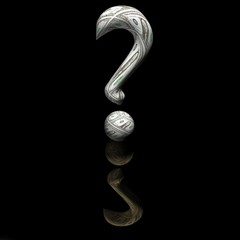 Dollar question mark on a smooth surface, 3d.