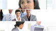 montage of businesswomen at work