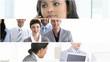 montage of businesswomen at work