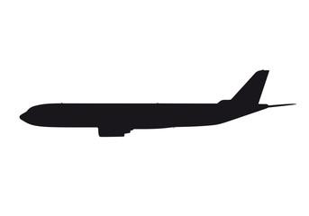 Detailliertes Flugzeug als Silhouette / Outline