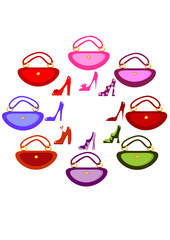 Women's footwear and handbag
