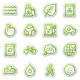 Ekológia web ikony set 2, zelenú nálepku séria