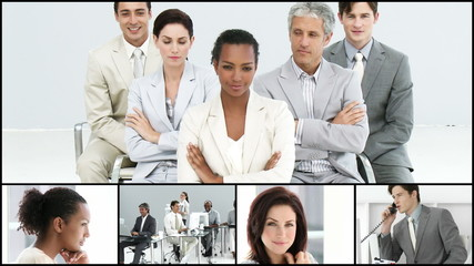 presentation of a confident businessteam