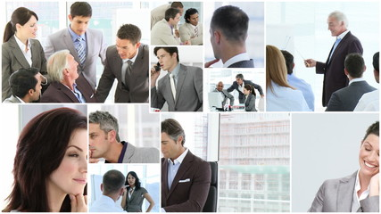 montage of business people portraits