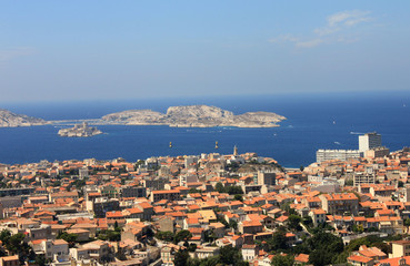 Blick auf Marseille und das Château d'If