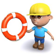 Builder throws a lifeline