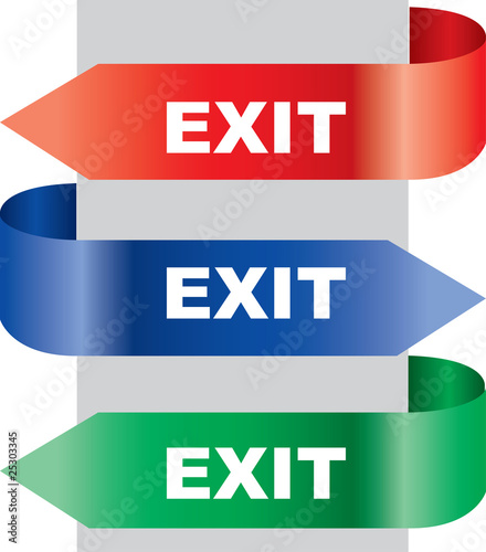 Vector illustration of the exit board