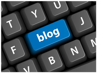 BLOG Key on Keyboard (speech bubble internet web button website)
