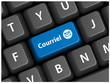 Touche COURRIEL sur Clavier (e-mail courrier électronique mél)