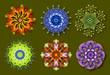 Ensemble de Mandalas Fleurs / Nature / Energie en Couleurs