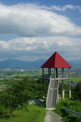 赤い屋根の展望台