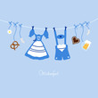 Octoberfest Symbols Hanging Blue