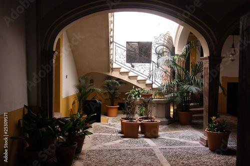 spanischer innenhof stockfotos und lizenzfreie bilder auf bild 25309571. Black Bedroom Furniture Sets. Home Design Ideas