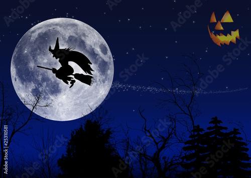 Hexenflug Halloween
