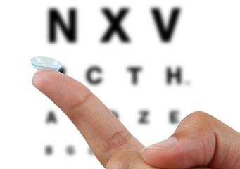 Contact Lens & Eye Chart